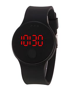 billige Digitalure-Herre Dame Digital Watch Digital 30 m Vandafvisende LCD 3D-tegneseriefigur Silikone Bånd Digital Sej Elegant Sort / Hvid / Blåt - Rød Grøn Blå Et år Batteri Levetid