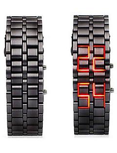 billige Digitalure-Herre Digital Watch Kinesisk Kronograf / Selvlysende / Cool ord / sætning Legering Bånd camouflage Sort / SSUO LR626
