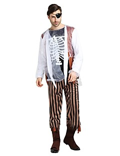 billige Voksenkostymer-Spøkelse / Zombie Drakter Unisex Halloween / Karneval / De dødes dag Festival / høytid Halloween-kostymer Svart Ensfarget / Halloween