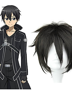 cheap Anime Cosplay Wigs-Cosplay Wigs Sword Art Online Kirito Anime Cosplay Wigs 32 CM Heat Resistant Fiber Men's
