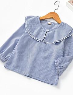 billige Pigetoppe-Børn Pige Stribet Langærmet Bluse