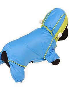 billiga Hundkläder-Hund / Katt / Husdjur Regnjacka / Vattentät / Dunjackor Hundkläder Enfärgad / Färgblock / Enkel Gul / Fuchsia / Blå Tyg Kostym För husdjur