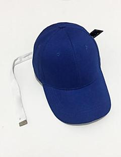 billige Hatter til damer-Herre Unisex Aktiv Baseballcaps Ensfarget Bomull