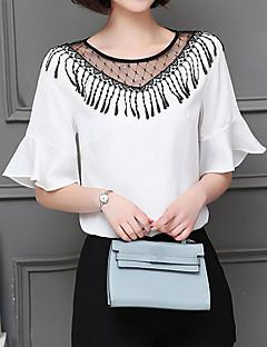 billige T-shirt-Dame - Ensfarvet Kvast T-shirt