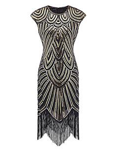 billige Paljettkjoler-Tube / kolonne Besmykket Asymmetrisk Polyester Glitrende / Liten svart kjole Cocktailfest / Skoleball Kjole med Paljett av TS Couture®