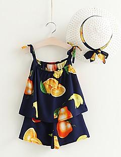 billige Tøjsæt til piger-Børn / Baby Pige Frugt Uden ærmer Tøjsæt