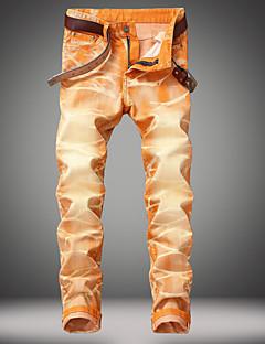 billige Herrebukser og -shorts-Herre Vintage Gatemote Chinos Jeans Bukser Stripet Svart og hvit BLå & Hvit