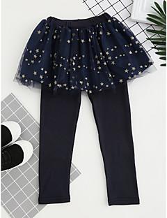 cheap Girls' Clothing-Girls' Plaid Pants, Polyester All Seasons Active Blushing Pink Navy Blue Purple
