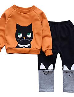 Χαμηλού Κόστους Do Your Kids Love Cats??-Παιδιά Κοριτσίστικα Μονόχρωμο Κοντομάνικο Σετ Ρούχων