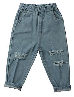 billige Bukser og leggings til piger-Børn Unisex Ensfarvet Jeans