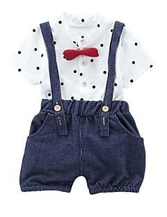 billige Tøjsæt til drenge-Børn / Baby Drenge Prikker / Stribet Kortærmet Tøjsæt