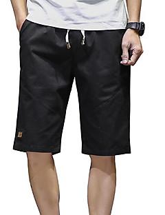 billige Herrebukser og -shorts-Herre Gatemote Shorts Bukser Ensfarget