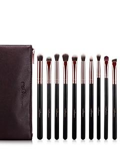 billige Sminkebørstesett-12pcs Makeup børster Profesjonell Sminke Økovennlig Tre / Bambus
