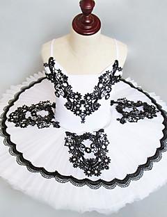 tanie Stroje baletowe-Balet Suknie Dla dziewczynek Wydajność Spandeks Marszcząca się / Materiały łączone Bez rękawów Tutu