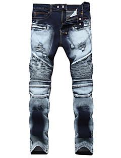 billige Herrebukser og -shorts-Herre Aktiv / Grunnleggende Jeans Bukser Fargeblokk