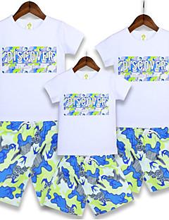 billige Sett med familieklær-Familie Look Blomstret Kortermet T-skjorte
