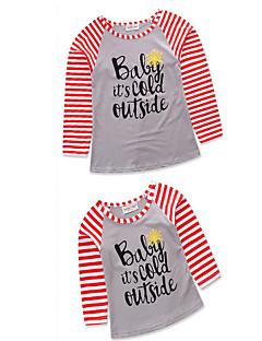 billige Sett med familieklær-Mamma og meg Geometrisk Kortermet / Langermet T-skjorte