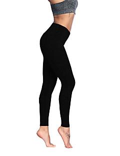 billiga Träning-, jogging- och yogakläder-Dam Ficka Yoga byxor - Grå, Grov Svart, Ljusgrå sporter Rand Elastan 3/4 Strumpbyxor / Cykling Tights / Leggings Löpning, Fitness Sportkläder Anatomisk design, Mjuk, Bekväm Hög Elasisitet