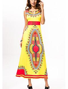 Χαμηλού Κόστους Φορέματα Boho-Γυναικεία Εξόδου Λεπτό Θήκη Φόρεμα Μακρύ Ψηλή Μέση