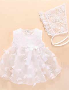 levne With Lovely Romper-Dítě Dívčí Základní Jednobarevné Bez rukávů Polyester Jeden kus Bílá / Toddler