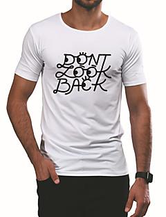billige Herremote og klær-T-skjorte Herre - Bokstaver Aktiv / Grunnleggende