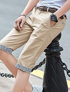 billige Herrebukser og -shorts-Herre Aktiv Store størrelser Shorts Bukser - Ensfarget / Stripet Lyseblå / Sommer
