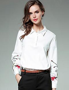 Χαμηλού Κόστους Μπλούζες-Γυναικεία Πουκάμισο Δουλειά / Ενεργό Φλοράλ Κεντητό