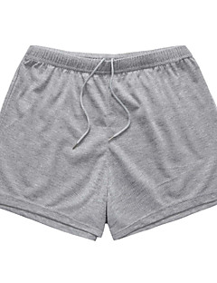 billige Herrebukser og -shorts-Herre Grunnleggende Store størrelser Bomull / Lin Shorts Bukser - Dusk, Ensfarget Svart og hvit