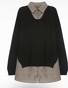 billige Kvinde Toppe-Dame - Ensfarvet Basale / Punk & gotisk T-shirt Sort og Grå