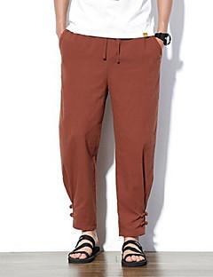 billige Herremote og klær-Herre Grunnleggende Chinos Bukser Ensfarget