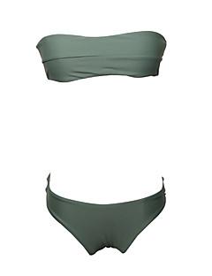 billige Bikinier og damemote 2017-Dame Bikinikjole - Åpen rygg, G-streng Ensfarget