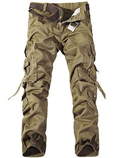 billige Herrebukser og -shorts-Herre Militær Lastebukser Bukser Ensfarget