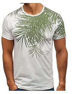 cheap Men's New Ins-Men's Cotton / Linen T-shirt - Solid Colored Round Neck / Short Sleeve