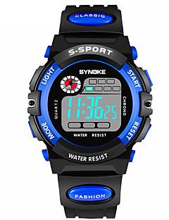 billige Digitalure-SYNOKE Herre Sportsur Digital Watch Digital Sort 30 m Vandafvisende Kalender Kronograf Digital Mode - Gul Rød Blå / Dobbelte Tidszoner / Selvlysende i mørke