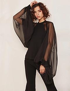 tanie AW 18 Trends-Koszula Damskie Biznes / Moda miejska, Siateczka Praca Szczupła - Jendolity kolor