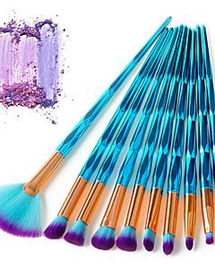 baratos -Conjunto - 10 Pincéis de maquiagem Profissional Conjuntos de pincel Fibra Profissional / Cobertura Total Plástico