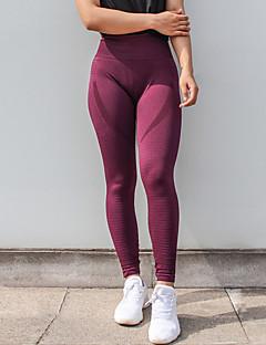 baratos Leggings para Mulheres-Mulheres Esportivo Legging - Sólido Cintura Média