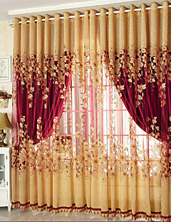 verduisteringsgordijnen gordijnen woonkamer bloemen 100 polyester jacquard