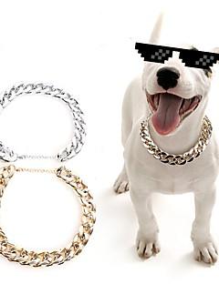 billiga Hundkläder-Hund / Katt / Små pälsdjur Halsband Hundkläder Enfärgad Guld / Silver Plast Kostym För husdjur Sport och utomhus / Stilig