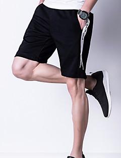 billige Herrebukser og -shorts-Herre Aktiv Store størrelser Løstsittende Chinos / Joggebukser Bukser - Ensfarget Hvit / Sport / Helg