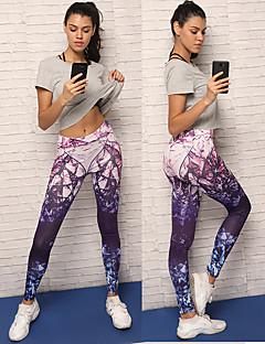 voordelige Trainen, fitness en yoga-Dames Yoga broek - Paars Sport Spandex Fietsen Tights / Lange Broek / Legging Hardlopen, Fitness, Training Sportkleding Ademend, Zacht, Comfortabel Rekbaar