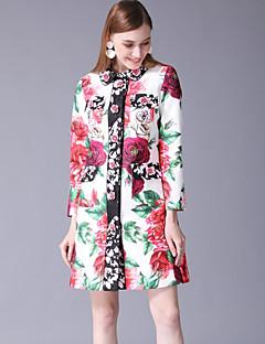 ieftine Îmbrăcăminte Exterior-Pentru femei Palton Vintage / De Bază - Print Floral, Imprimeu