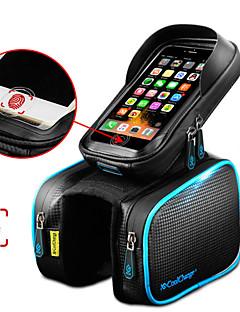 billiga Cykling-CoolChange Mobilväska / Väska till cykelramen / Top Tygväska 6.2 tum Pekskärm, Vattentät, Reflekterande Cykelsport för Samsung Galaxy S6 / iPhone 5C / iPhone 4/4S Svart / iPhone 8/7/6S/6