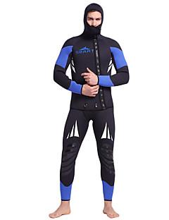 お買い得  ウェットスーツ/ダイビングスーツ/ラッシュガードシャツ-SBART 男性用 フルウェットスーツ 5mm ダイビングスーツ 速乾性, 人間工学デザイン, 高通気性 フルボディー 潜水 クラシック / ファッション 春 / 秋 / 冬 / 伸縮性あり