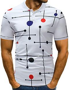 povoljno Muške polo majice-Polo Muškarci - Osnovni / Ulični šik Sport / Rad Color block / Slovo Print