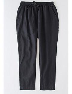 billige Herrebukser og -shorts-Herre Grunnleggende Store størrelser Chinos Bukser Ensfarget