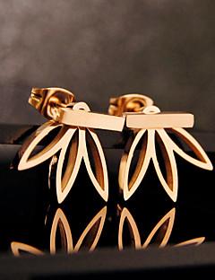 Χαμηλού Κόστους Shixin®-Γυναικεία Κουμπωτά Σκουλαρίκια Σκουλαρίκια στυλ μπρος και πίσω - Λουλούδι Βασικό, Ευρωπαϊκό Ασημί / Χρυσαφί Για Πάρτι Γενέθλια Καθημερινά