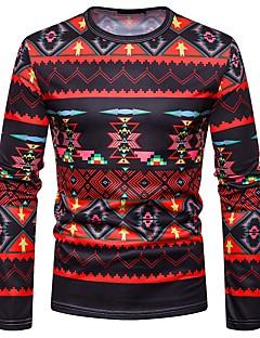 billige Herremote og klær-T-skjorte Herre - Regnbue / Tribal, Trykt mønster Bohem