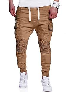 billige Herrebukser og -shorts-menns pluss størrelse bomull chinos / harem bukser - solid farget