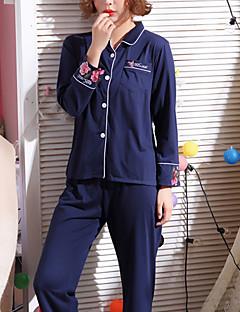 billige Moteundertøy-Dame Firkantet hals Dress Pyjamas - Broderi